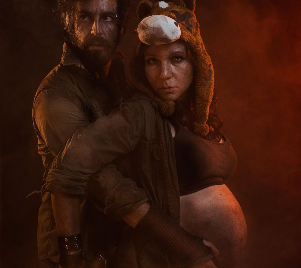 post apocalypse pregnancy photo shoot